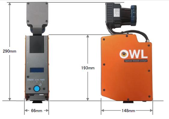AME-OL104型 本体外形寸法